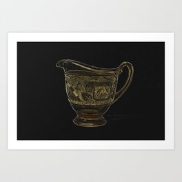 Etched Glass Art Print