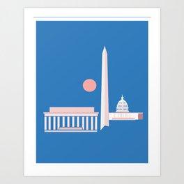 Washington D.C. City Print Art Print