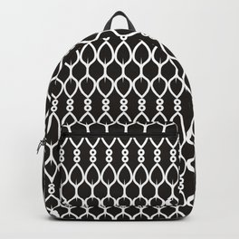 Black and White Shapes Geometric Pattern Backpack