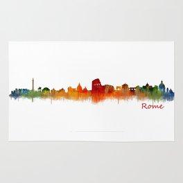 Rome city skyline HQ v02 Rug