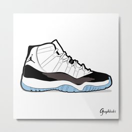 "Air Jordan XI Retro ""Concord"" Metal Print"