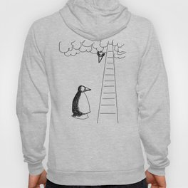 Metaphysical Penguin Waiting for You Hoody