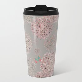 Hand painted Alliums and butterflies Travel Mug