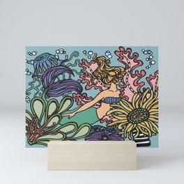 Coral Reef Sea Siren Mini Art Print