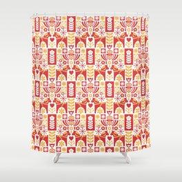 Swedish Folk Art_Mid-Century Modern Shower Curtain