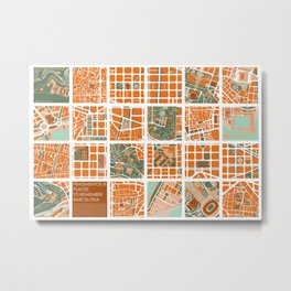 Fagmentos III Barcelona Metal Print