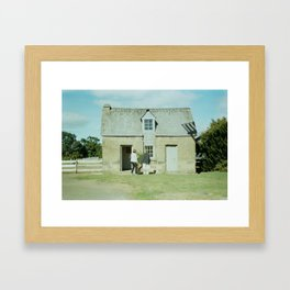 Bricks. Framed Art Print