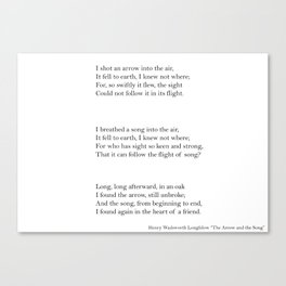 The Arrow and the Song Canvas Print