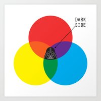 dark side Art Prints featuring Dark Side by I Love Doodle
