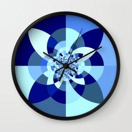 Classic Blue Kaleidoscope Wall Clock