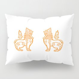 Orange Burmese Lion Pillow Sham