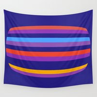 hamburger Wall Tapestries featuring Abstract Hamburger by Betty Mackey