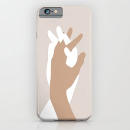 Lovers holding hands iPhone Case