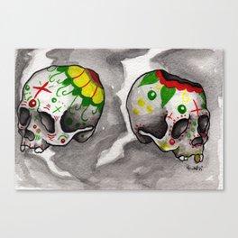Calacas Otra Ves Canvas Print