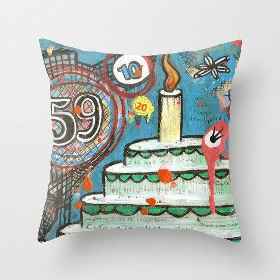 I Love Cake!  Throw Pillow