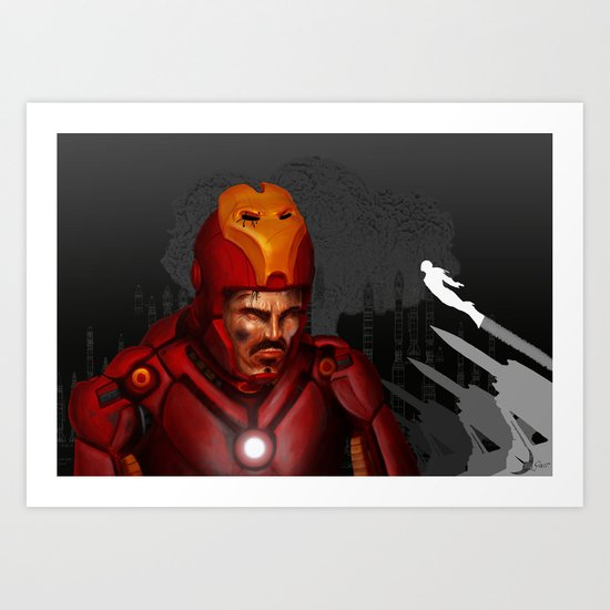 THE FACE COLLECTION - IRON MAN Art Print