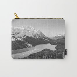 Landscape Photography Peyto Lake | Black and white Carry-All Pouch