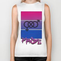 bisexual Biker Tanks featuring Bisexual Pride! by Creature Creation Cafe