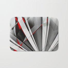 Red Gray Abstractum Bath Mat