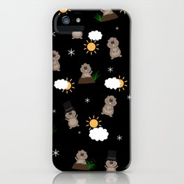 Groundhog Day Pattern iPhone Case