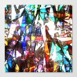Light Streaming Through Stained Glass Canvas Print