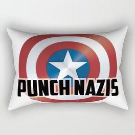 Punch Nazis Rectangular Pillow