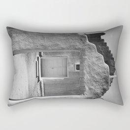 Ansel Adams - Taos Pueblo Church Rectangular Pillow