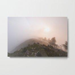 Magic atmosphere in the fog Metal Print