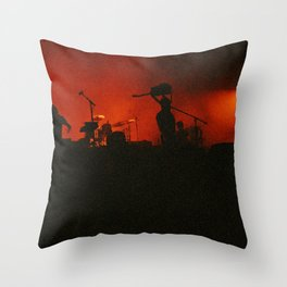 if music had a color it'd be red Throw Pillow