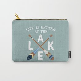 Life Is Better At The LAKE Painted Paddles Carry-All Pouch