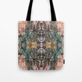 Working through Darkness Tote Bag
