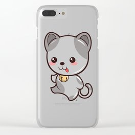 Happy Kitten Kawaii Clear iPhone Case