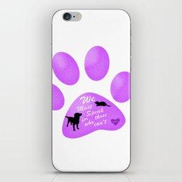 Animal Abuse Awareness II iPhone Skin