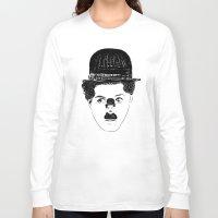 charlie chaplin Long Sleeve T-shirts featuring Charlie Chaplin by creaziz