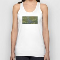 monet Tank Tops featuring Claude Monet - Water Lily Pond 1919 by Elegant Chaos Gallery