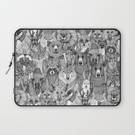 canadian animals black white Laptop Sleeve