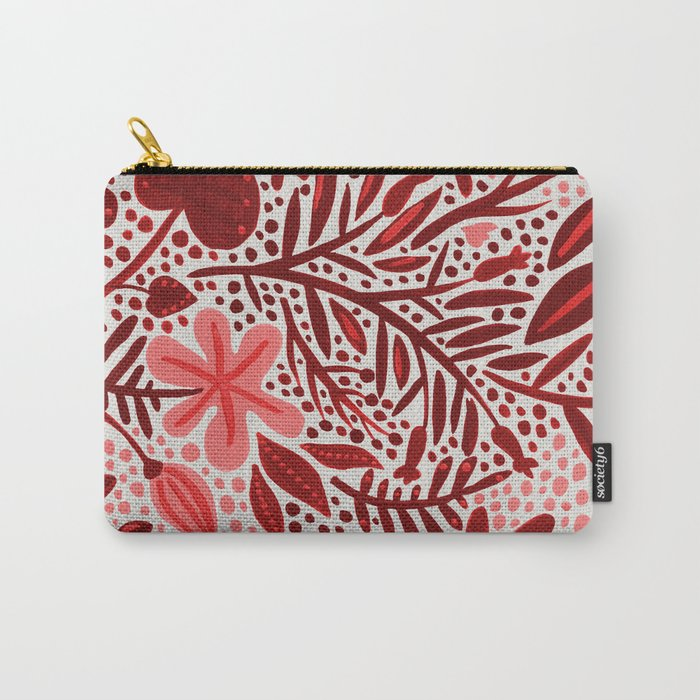 Red Garden Carry-All Pouch