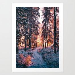 Burning bright winters day Art Print