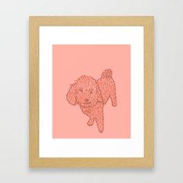 furry best friend Framed Art Print