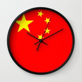 Chinese Flag Sticker & More Wall Clock
