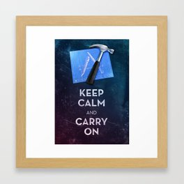 Keep Calm Xcode Framed Art Print
