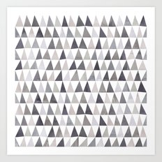 Muted Triangles Imperfect Geometry Art Print