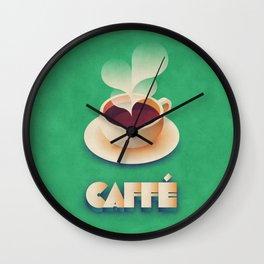 Art Deco Vintage Retro Coffee - Green Wall Clock