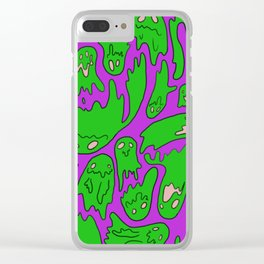 Green Ghosties Clear iPhone Case