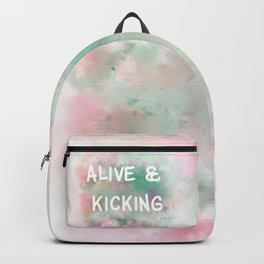 Alive and Kicking (white)  Backpack