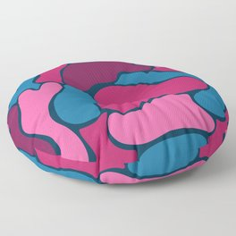 Abstract Bubbles in Hot Pink Floor Pillow