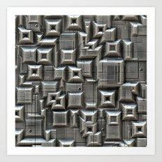 Textured Space Tiles Art Print