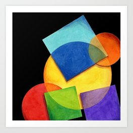 Rainbow Candy Geometric Art Print