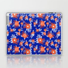 Florida floral orange and blue gators swamp varsity minimal university sports football fan Laptop & iPad Skin