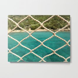 SAILING ROPE Metal Print